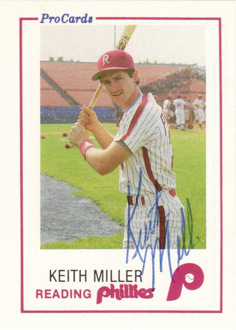 1985 ProCards Reading Phillies #7 Keith Miller Front