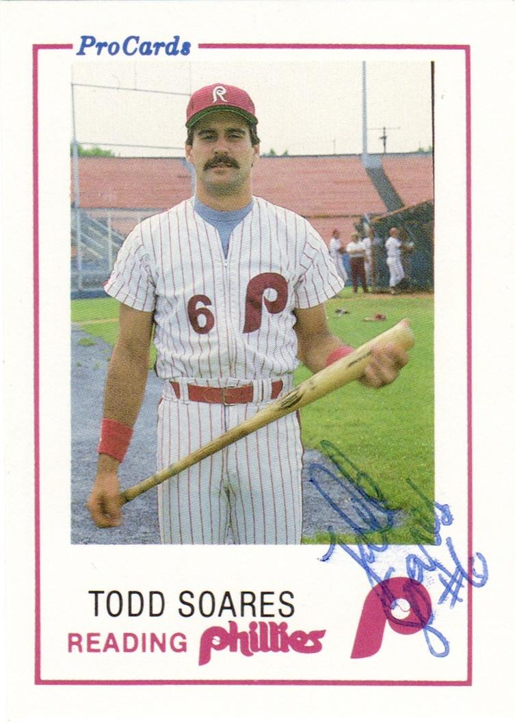 1985 ProCards Reading Phillies #10 Todd Soares Front