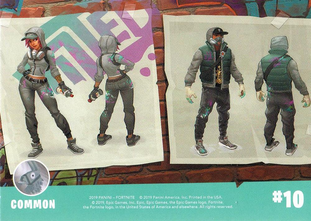 Panini NEW 10 FORTNITE Trading Cards Series 1 #1-10 BASE Cards
