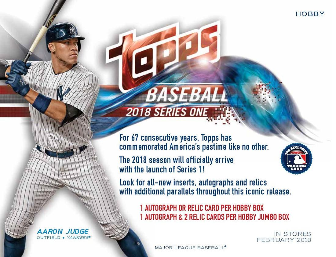 Sell Sheets Ads 2018 Topps Baseball The Trading Card Database